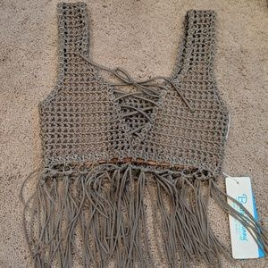 Brand new Beach Bunny Sadie crochet crop top